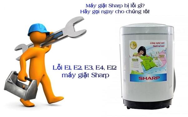 tổng hợp mã lỗi máy giặt sharp và cách khắc phục
