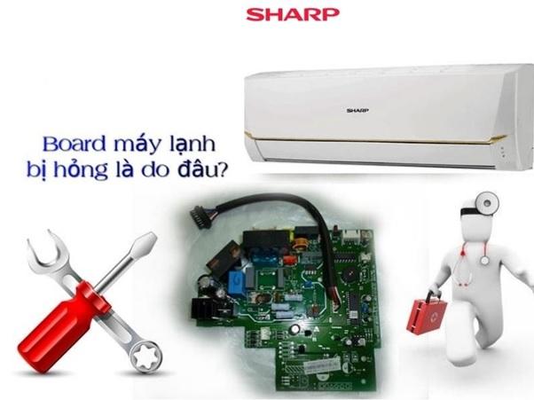 địa chỉ sửa bo mạch điều hòa sharp tại tp.hcm