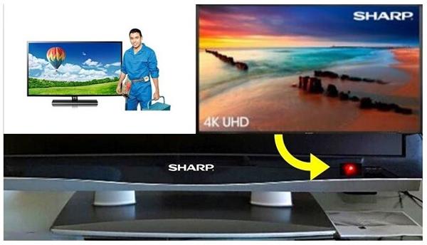 tivi sharp nháy đèn đỏ: nguyên nhân và cách khắc phục