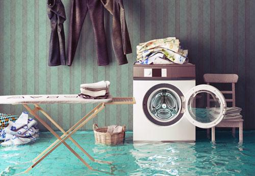 máy giặt Sharp bị ngập nước