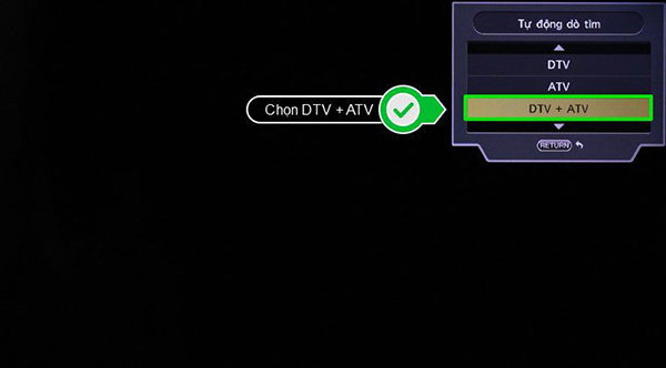 Tivi Sharp không dò được kênh