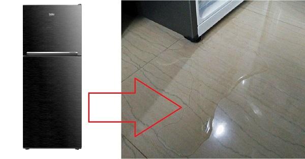 Tủ lạnh bị chảy nước loang khắp nhà gây nhiều bất tiện và mất vệ sinh