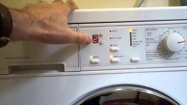 Một số lỗi máy giặt sharp