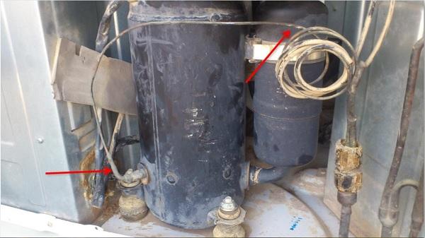 Vị trí của dàn cáp tiết lưu/ống mao dẫn môi lạnh trong máy lạnh