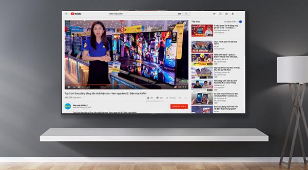 Sử dụng trình duyệt web trên tivi để xem Youtube
